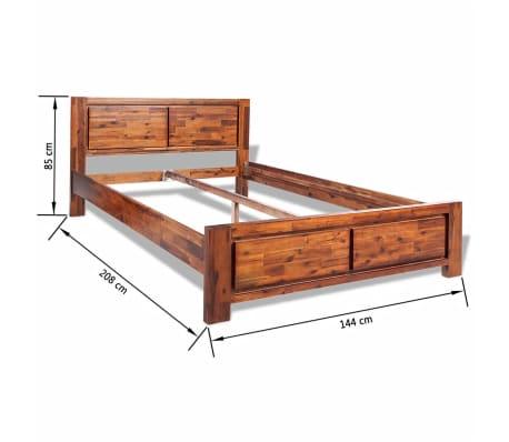 vidaXL Lovos rėmas su spintelėmis, akacijos mediena, rudas, 140x200cm[15/16]
