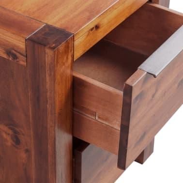 vidaXL Lovos rėmas su spintelėmis, akacijos mediena, rudas, 140x200cm[13/16]