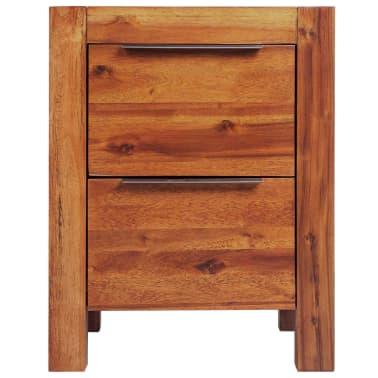vidaXL Lovos rėmas su spintelėmis, akacijos mediena, rudas, 140x200cm[12/16]