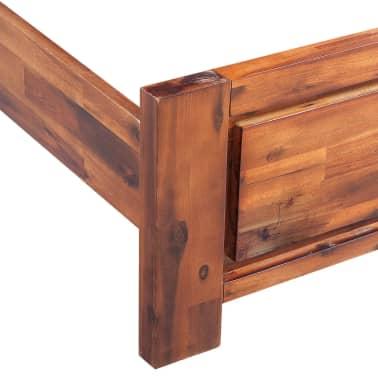 vidaXL Lovos rėmas su spintelėmis, akacijos mediena, rudas, 140x200cm[7/16]