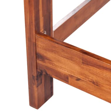 vidaXL Lovos rėmas su spintelėmis, akacijos mediena, rudas, 140x200cm[8/16]