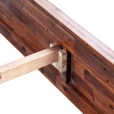 vidaXL Lovos rėmas su spintelėmis, akacijos mediena, rudas, 140x200cm[9/16]