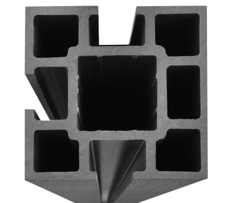 vidaXL Комплект панели за огради 2 квадратни + 1 с откос, WPC, сив[10/12]
