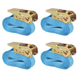 vidaXL Ratchet Tie Down Straps 4 pcs 0.8 Tonnes 6mx25mm Blue