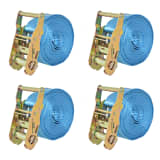 vidaXL Räikkä kuormaliinat 4 kpl 2 tonnia 6mx38mm Sininen