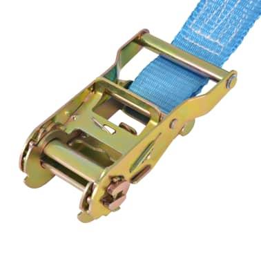 vidaXL Reketo tvirtinamieji dirželiai, 4vnt., 2t., 6mx38mm, mėlyni[5/6]
