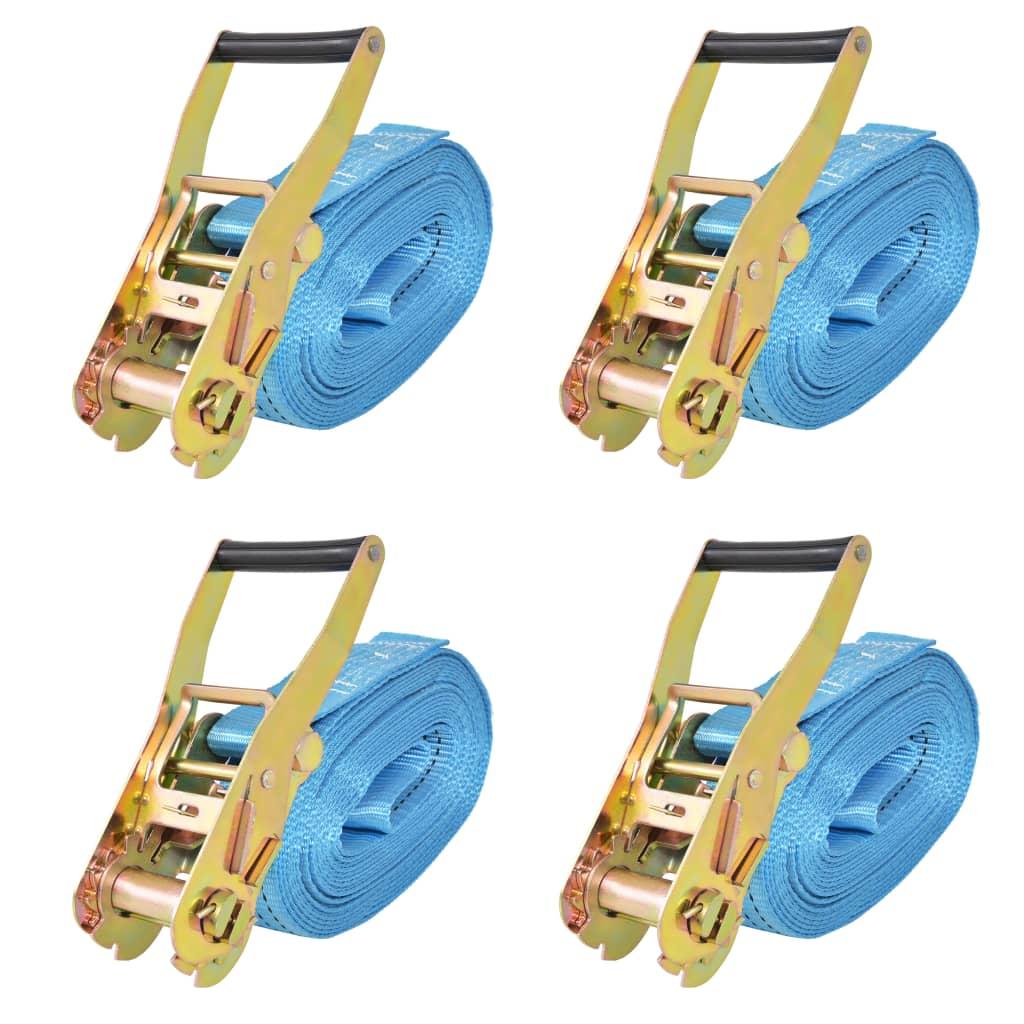 vidaXL Ráčnové upínací pásy, 4 ks, 4 tuny, 8mx50mm, modré