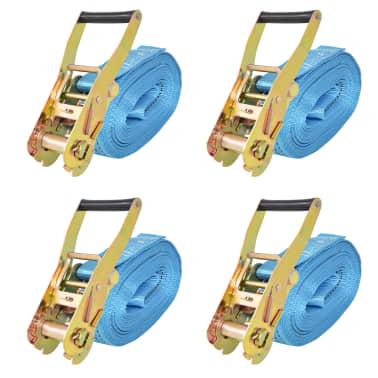 vidaXL Reketo tvirtinamieji dirželiai, 4vnt., 4t., 8mx50mm, mėlyni[1/6]