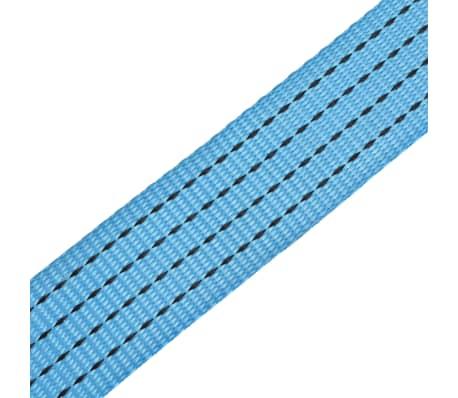 vidaXL Reketo tvirtinamieji dirželiai, 4vnt., 4t., 8mx50mm, mėlyni[6/6]