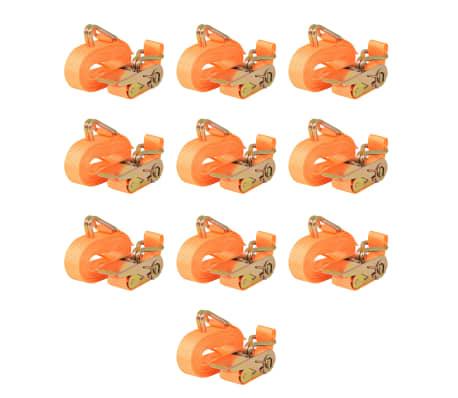 vidaXL Correas de sujeción de trinquete 10 uds 0,4 T 6mx25mm naranja[1/5]