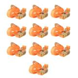 vidaXL Räikkä kuormaliinat 10 kpl 0,4 tonnia 6mx25mm Oranssi