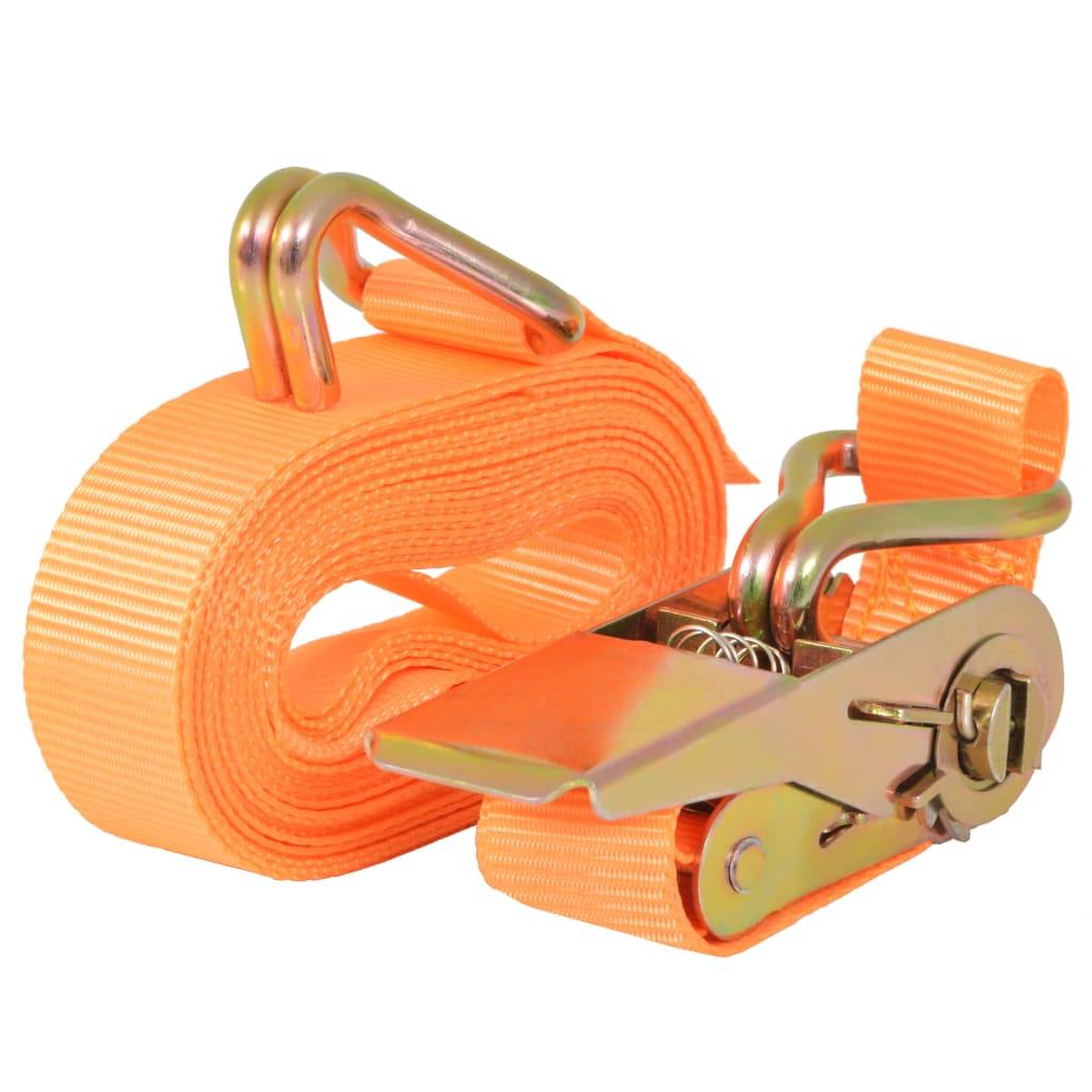 99142659 Ratschen-Spanngurte 10 Stk. 0,4 Tonnen 6m×25 mm Orange