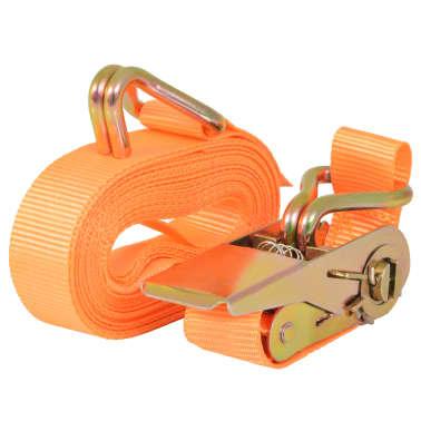vidaXL Correas de sujeción de trinquete 10 uds 0,4 T 6mx25mm naranja[2/5]