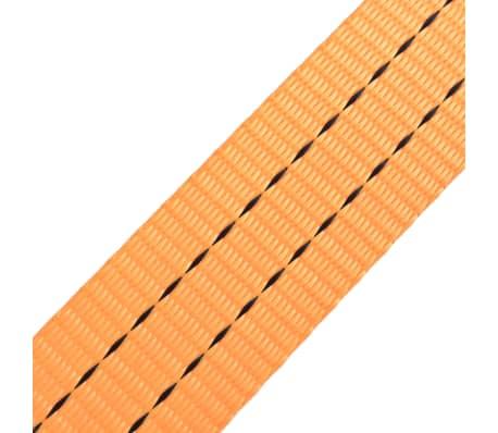 vidaXL Sangle d'arrimage à cliquet 10 pcs 1 tonne 6 m x 38 mm Orange[5/5]