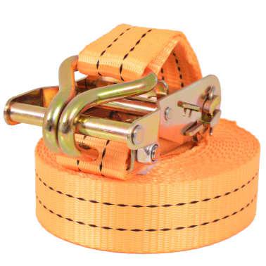 vidaXL Sangle d'arrimage à cliquet 10 pcs 1 tonne 6 m x 38 mm Orange[2/5]
