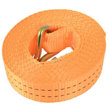 vidaXL Sangle d'arrimage à cliquet 10 pcs 1 tonne 6 m x 38 mm Orange[3/5]