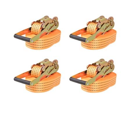 vidaXL Reketo tvirtinamieji dirželiai, 4vnt., 2t., 8mx50mm, oranž.[1/5]