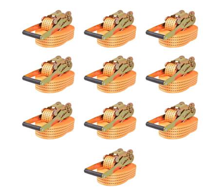 vidaXL Correas de sujeción de trinquete 10 uds 2 T 8mx50mm naranja[1/5]