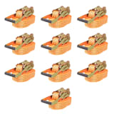 vidaXL Cintas de fixação c/ roquete 10 pcs 4 toneladas 8mx50mm laranja