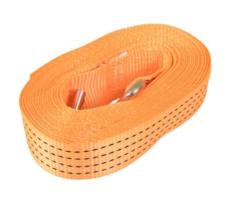 vidaXL Correas de sujeción de trinquete 10 uds 2 T 8mx50mm naranja[3/5]