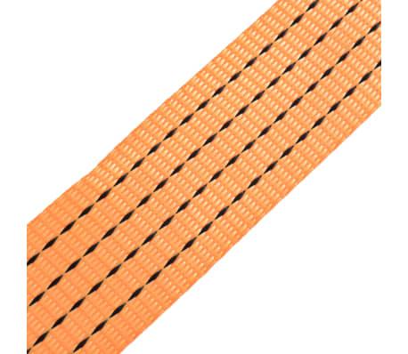 vidaXL Correas de sujeción de trinquete 10 uds 2 T 8mx50mm naranja[5/5]