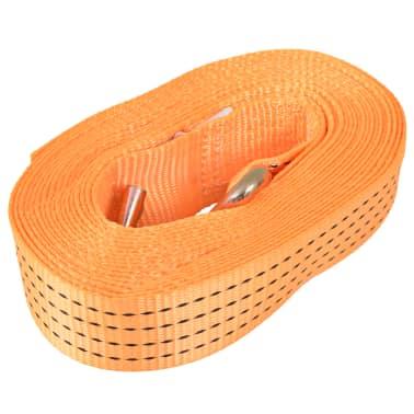 vidaXL Räikkä kuormaliinat 10 kpl 2 tonnia 8mx50mm Oranssi[3/5]
