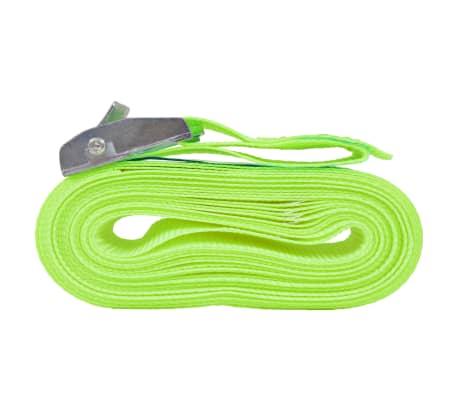 vidaXL Correas 10 unidades verde fluorescente 0,25 T 5 mx 25 mm[3/5]