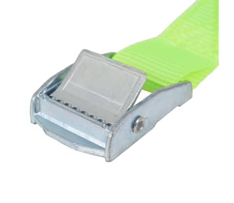 vidaXL Correas 10 unidades verde fluorescente 0,25 T 5 mx 25 mm[4/5]