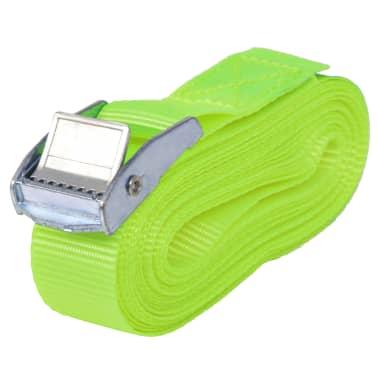 vidaXL Correas 10 unidades verde fluorescente 0,25 T 5 mx 25 mm[2/5]