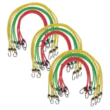 vidaXL 30 pcs Bungee Cords 60/80/100 cm Red Yellow Green