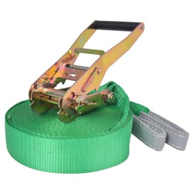 vidaXL Corde lâche pour slackline 15 m x 50 mm 150 kg Vert[1/6]