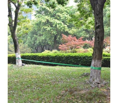vidaXL Corde lâche pour slackline 15 m x 50 mm 150 kg Vert[6/6]