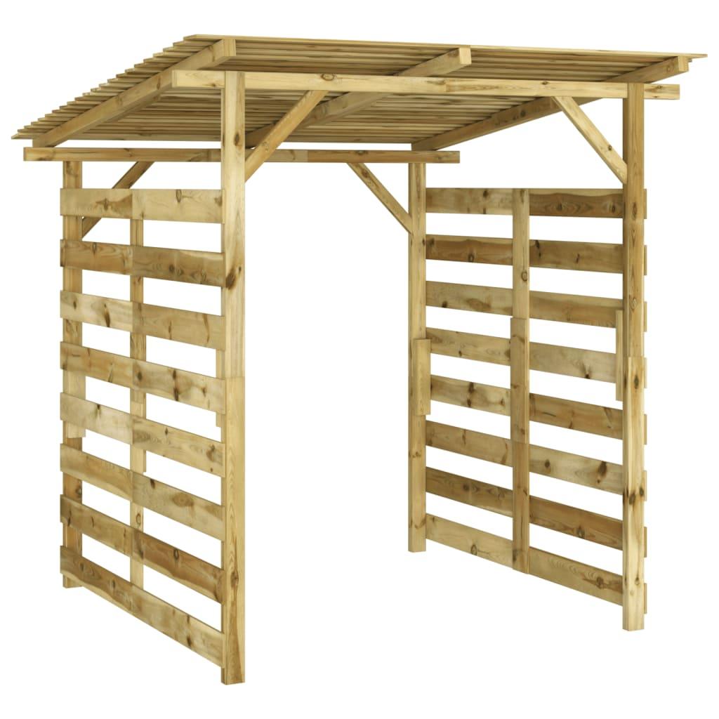 vidaXL Magazie de depozitare pentru lemne de foc, lemn de pin tratat imagine vidaxl.ro