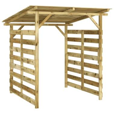 vidaXL Magazie de depozitare lemne de foc lemn de pin impregnat FSC[1/5]