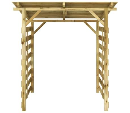 vidaXL Magazie de depozitare lemne de foc lemn de pin impregnat FSC[2/5]