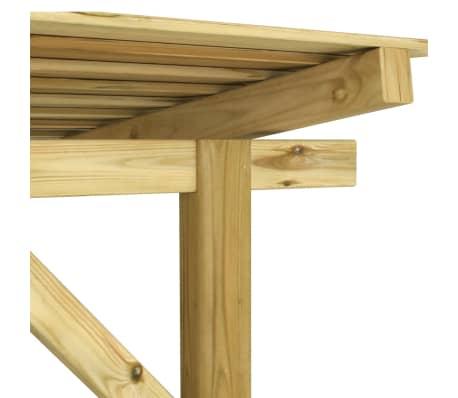 vidaXL Magazie de depozitare lemne de foc lemn de pin impregnat FSC[5/5]