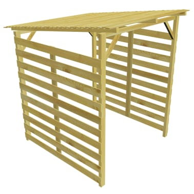 vidaXL Magazie de depozitare lemne de foc lemn de pin impregnat FSC[4/5]