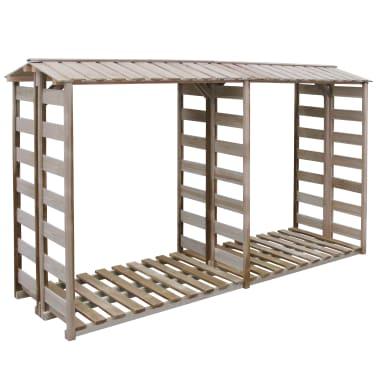 acheter vidaxl abri de stockage du bois de chauffage 300x100x176cm pin impr gn pas cher. Black Bedroom Furniture Sets. Home Design Ideas