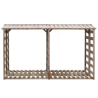 vidaXL Șopron lemne de foc, 300 x 100 x 176 cm, lemn de pin tratat FSC[2/3]