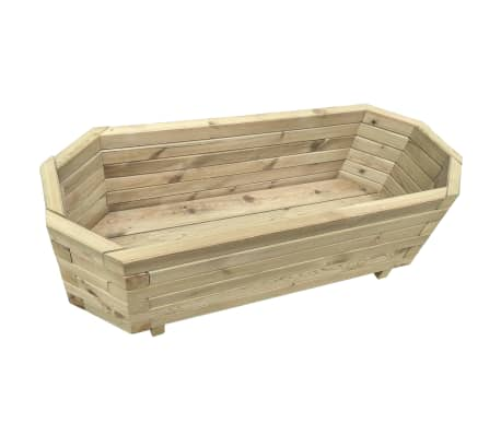 vidaXL Vaso/floreira de jardim 80x32x31 cm madeira pinho impregnada[2/4]