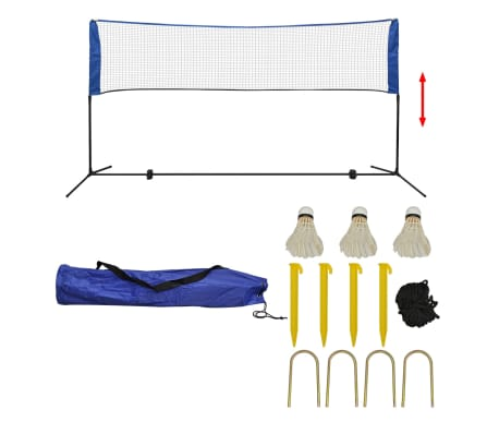 vidaXL Badminton Net Set with Shuttlecocks 300x155 cm