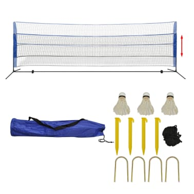 vidaXL Badmintono tinklas su plunksninukais, 500x155 cm[2/12]