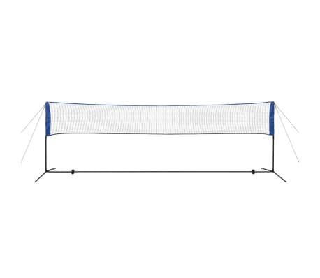 vidaXL Badmintono tinklas su plunksninukais, 500x155 cm[4/12]