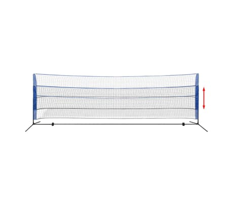 vidaXL Badmintono tinklas su plunksninukais, 500x155 cm[5/12]