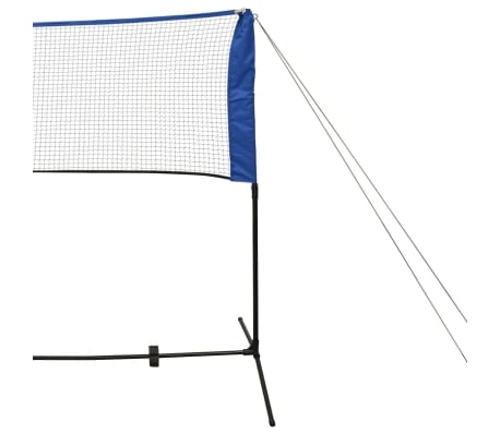 vidaXL Badmintono tinklas su plunksninukais, 500x155 cm[6/12]