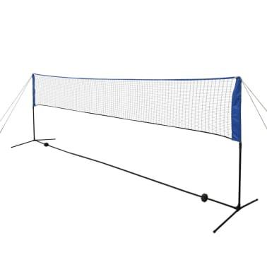 vidaXL Badmintono tinklas su plunksninukais, 500x155 cm[3/12]
