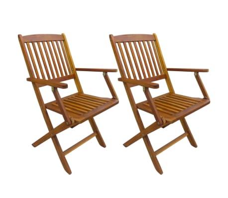 vidaXL Sillas plegables de jardín 2 unidades madera de acacia maciza[1/6]