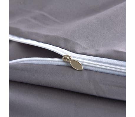 vidaxl 3 tlg bettw sche set anthrazit 240x220 80x80 cm g nstig kaufen. Black Bedroom Furniture Sets. Home Design Ideas