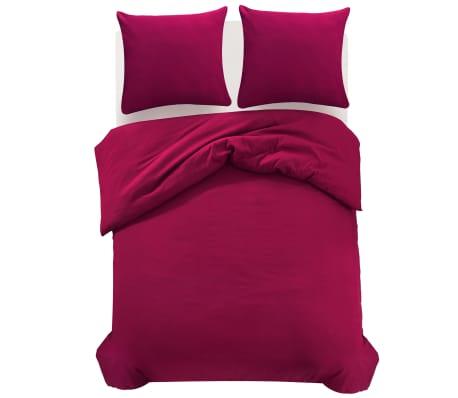 vidaxl 3 tlg bettw sche set burgunderrot 200x220 80x80 cm g nstig kaufen. Black Bedroom Furniture Sets. Home Design Ideas