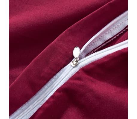 acheter vidaxl jeu de housse de couette 3 pcs bordeaux 200 x 220 80 x 80 cm pas cher. Black Bedroom Furniture Sets. Home Design Ideas